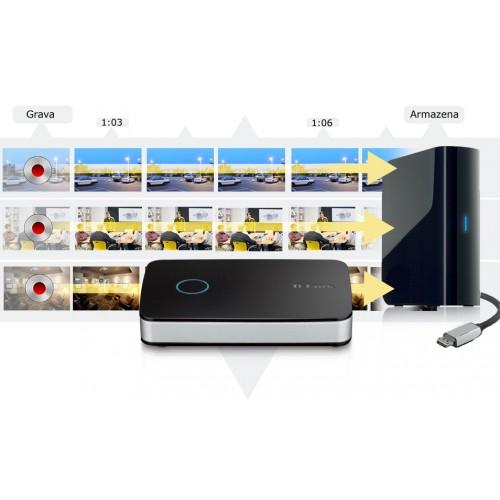 NVR CLOUD MY DLINK 1 A 4 CANAIS IP P/ HD EXTERNO + 1P 10/100 + USB 2.0  - DNR-202L